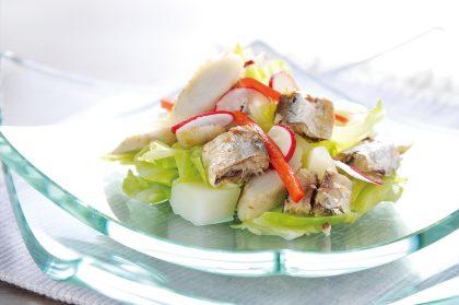 オイルサーディンの温野菜たっぷりサラダ